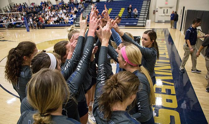 With the loss, Western Washington ends its season with a 27-4 record. It was the Vikings' third straight appearance in the championship match. Photo by Conner Schuh.