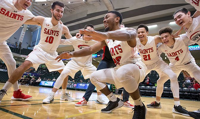 Saint Martin's is pick by coaches to win the GNAC after advancing to the GNAC Championships final and the NCAA West Regional in 2018. Photo by Skip Hickey.