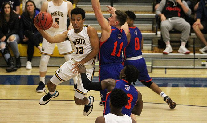 Montana State Billings guard Tyler Green scored 34 points in a win over crosstown rival Rocky Mountain, earning GNAC Player of the Week honors.