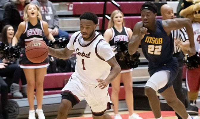 Central Washington's Gamaun Boykin hit a buzzer-beating three-pointer as regulation time expired to help lead Central Washington to a 111-102 overtime win over Montana State Billings on Saturday.