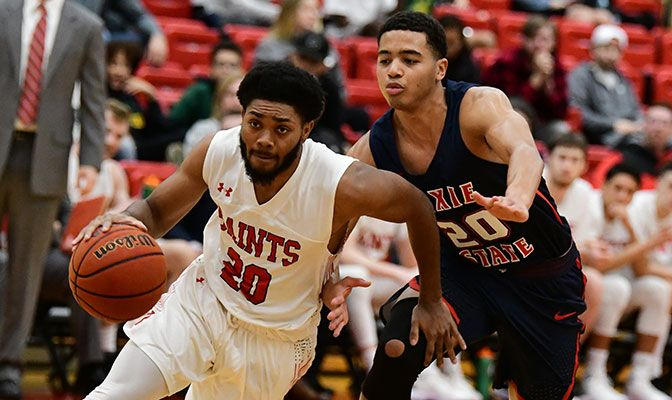 In addition to his 10.2 points per game for the Saints, B.J. Standley is 11th in Division II with a .915 free throw percentage.