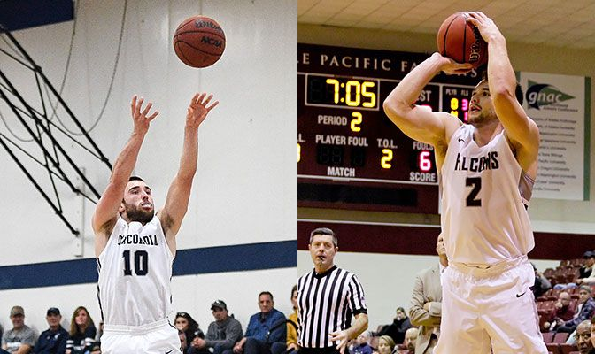 Gray (left) scored 42 points and had 12 rebounds in wins over Western Oregon and Montana State Billings. Wooten had 34 points and 22 rebounds in wins over Alaska and Alaska Anchorage.