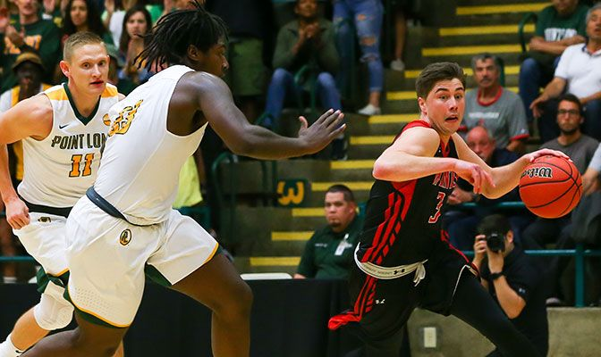 Luke Chavez led Saint Martin's with 12 points in his final game. Photo courtesy Point Loma.
