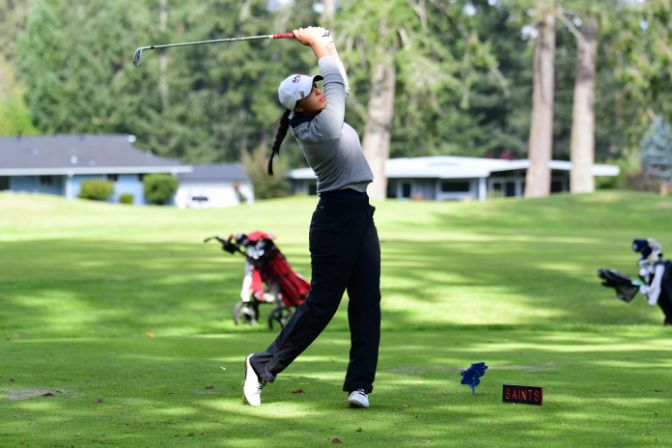 Jaya Rampuri is six strokes behind first place after shooting a 2-over par 75 in the first round.
