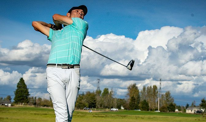 Western Washington's Aidan Thain led the conference with a 73.6 stroke average in 2020-21.