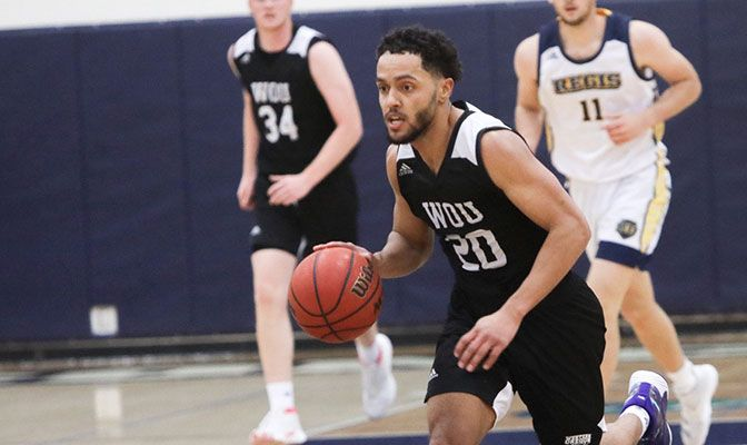 Western Oregon's Davlen Brushier scored 42 points in two wins last week to earn GNAC Player of the Week honors.