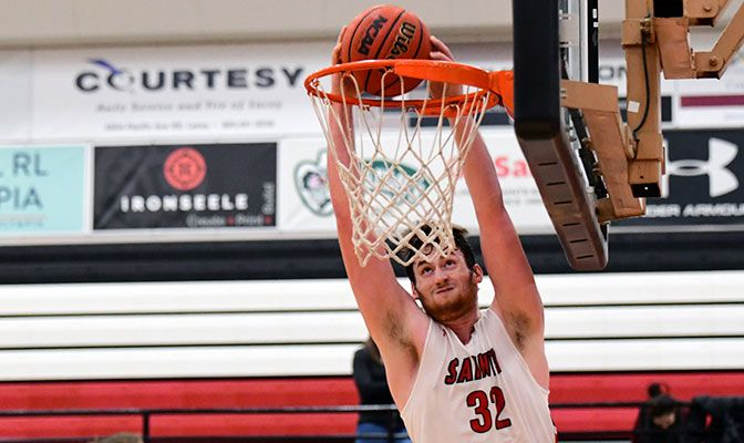 Saint Martin's center Marky Adams leads the conference and is 13th among Division II players with a .689 field goal percentage.