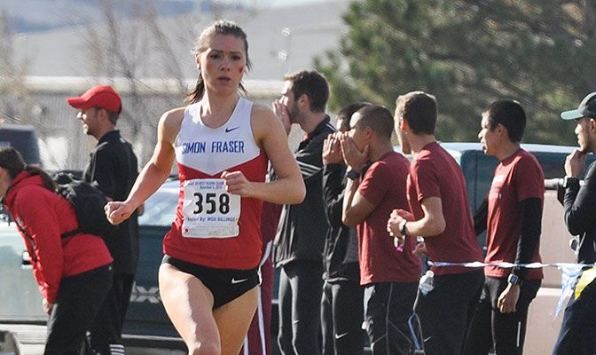Rebecca Bassett's eighth place finish helped SImon Fraser compile a second place team finish to earn a trip to the national meet.