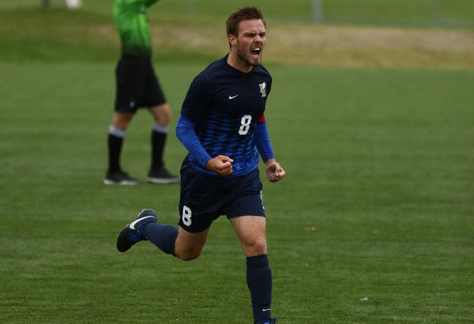 Montana State Billings' Guillaume Kremer netted two goals in the Yellowjackets' opening GNAC win against Northwest Nazarene, 3-2.