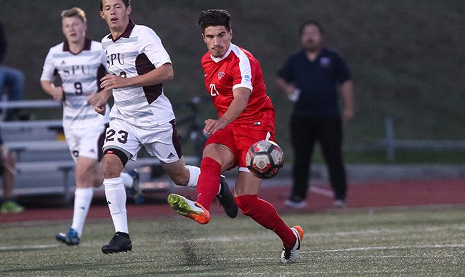 In his first full season of GNAC action, Marcello Polisi started all 17 games for almost 1,500 minutes for the Clan this season. He recorded a goal and an assist.