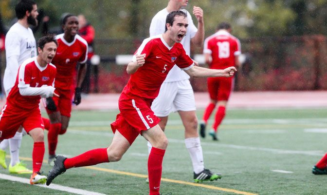 Brendan Shaw played in 15 matches and started eight for Simon Fraser's GNAC champion men's soccer program.