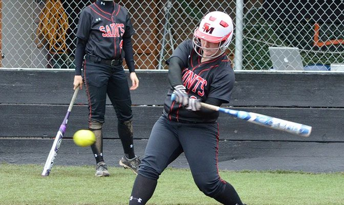 Saint Martin's Mary Dettling was named GNAC Softball Player of the Week after hitting .615 and leading the Saints to a 2-2 record in the San Diego area last weekend.