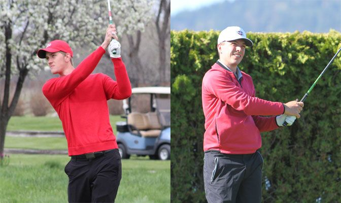 Lunt (right) is third on the Nighthawks with a 78.2 stroke average while Vaartstra has recorded two top-10 finishes this year. Both student-athletes boast a 3.95 GPA.