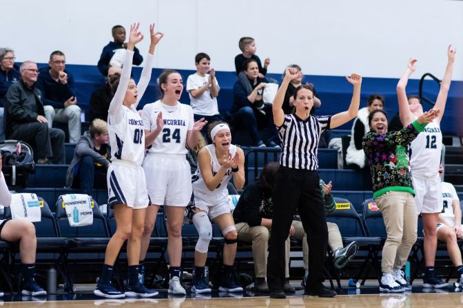 There has been plenty to celebrate for Concordia this year, which enters the final week of the regular season having won three straight games.