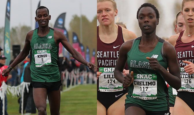 Kirui (left) won the Blue & Gold Run Fest by 12 seconds while Chelimo finished just ahead of teammate Nancy Jeptoo for the win. Photos by Jaime Valdez.