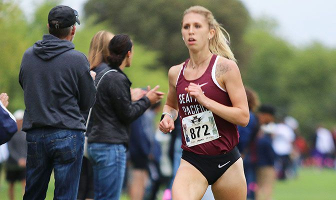 Kaylee Mitchell won the Capital Cross Challenge in a time of 20:30.2, beating Jenny Sandoval of San Jose State by three seconds.