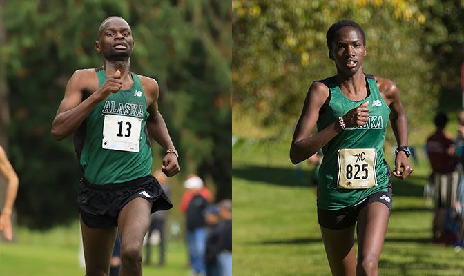 Felix Kemboi (left) won the Western Washington Classic men's race for the second year in a row. Nancy Jeptoo picked up her first-ever collegiate race win.
