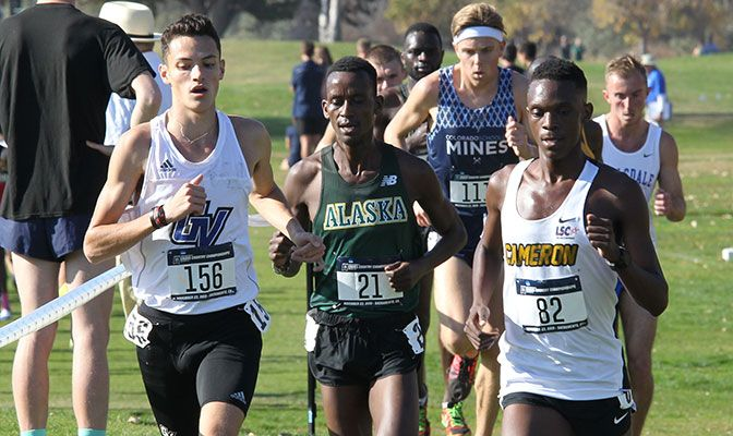 Wesley Kirui led the GNAC with his 29th place finish in a time of 30:33. Photo by Craig Craker.