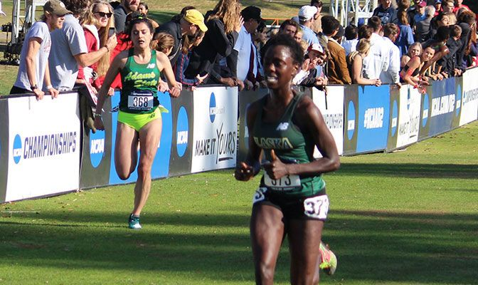 Emmah Chelimo earned All-American honors for the second consecutive year after finishing in fifth in 20:18.3.