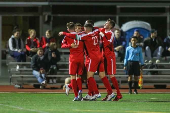 There was plenty to celebrate for the Clan on Saturday, including a flurry of first-half goals, yet another shutout victory and the program's third consecutive conference championship.