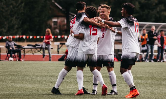 The Saints head into conference play as the GNAC's top-scoring offense.
