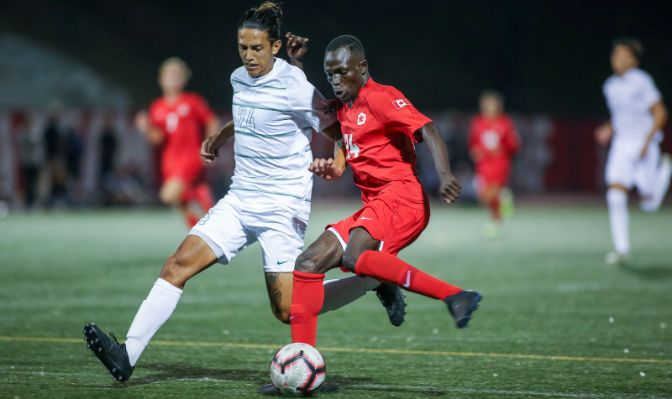 Simon Fraser's William Raphael earned Offensive Player of the Week honors after scoring a hat trick at Seattle Pacific on Saturday.