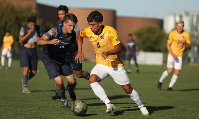 Andres Perez earned GNAC Offensive Player of the Week honors for the second time this season after leading the MSUB offensive charge.