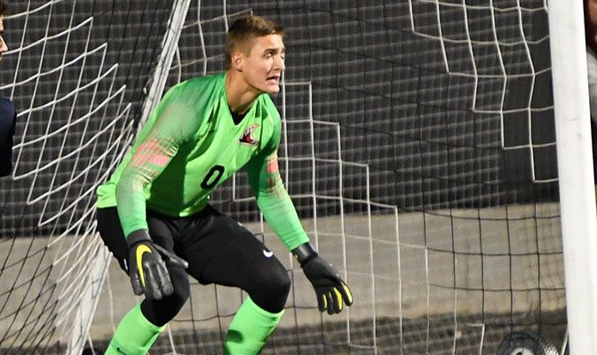 Alex Nadermann has started eight matches for Northwest Nazarene and ranks fifth in the GNAC in saves.