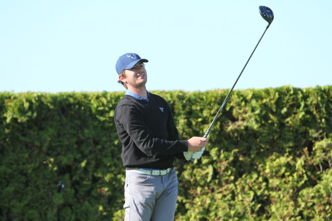 Led by nine birdies and an eagle, Bonfilio finished the opening two rounds in first place at 4-under par.