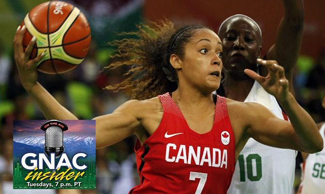 2013 GNAC Player of the Year Nayo Raincock Ekunwe represented Canada in the Rio Olympics on the women's basketball team.