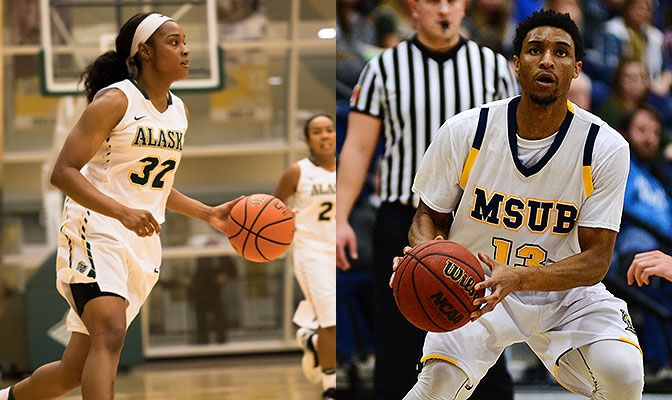 Autummn Williams (left) scored 26 points against Alaska on Saturday while Marc Matthews scored 20 against Western Oregon and 29 against Rocky Mountain.