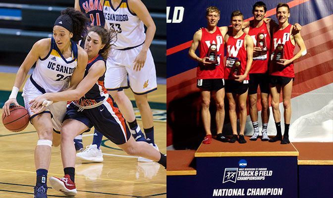 Sophie Swant scored career highs of 17 and 18 points in the two wins for SFU, while the WOU quartet set the NCAA Division II record in the DMR.