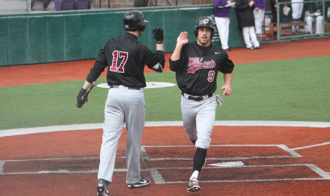 The Wildcats scored 26 of their 27 runs during the final four innings of each of the five games.