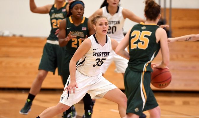 In 30 games, Aleisha Hathaway came off the bench to contribute 2.3 points per game for the Vikings.