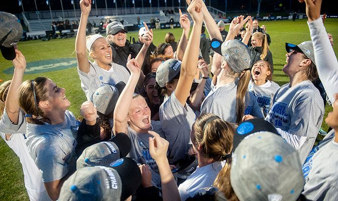 Western Washington scored multiple goals in all seven playoff victories this season.