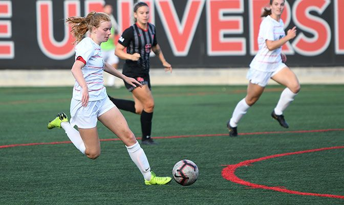 Rikki Myers scored four goals against Cal State East Bay on Saturday, eclipsing the old conference record of three goals accomplished 60 times.