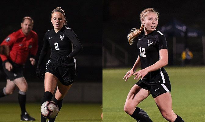 Doyle (left) scored three goals and had an assist in two matches while Chick anchored a WWU defense that allowed five shots on goal last week.