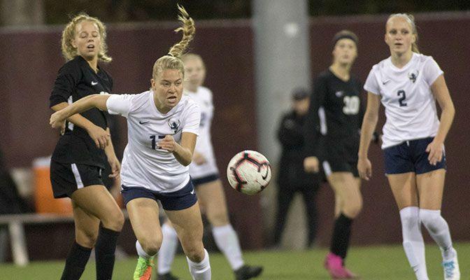 Grace Eversaul was a key member of the Vikings' 2019 national runner-up women's soccer team.