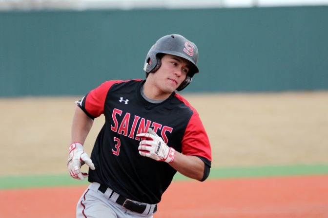 Saint Martin's third baseman Micah McNicoll was named the GNAC Player of the Week after leading his team to a series win at College of Idaho.