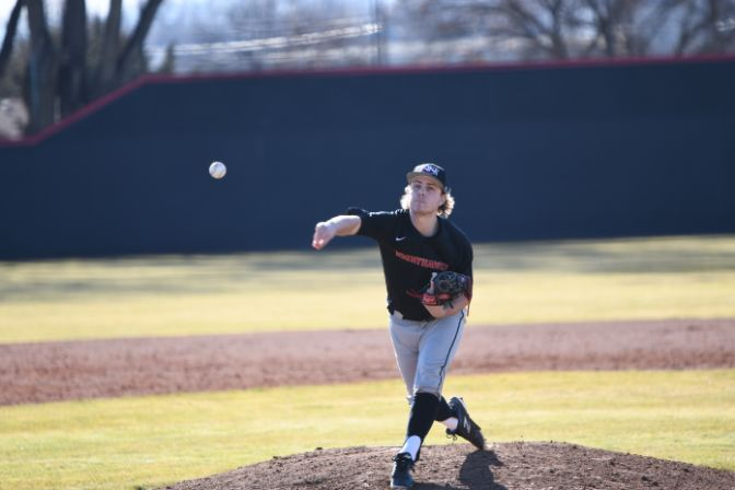 Northwest Nazarene senior Cooper Webster was named the GNAC Pitcher of the Week after helping lead his team to a series win at Academy of Art.