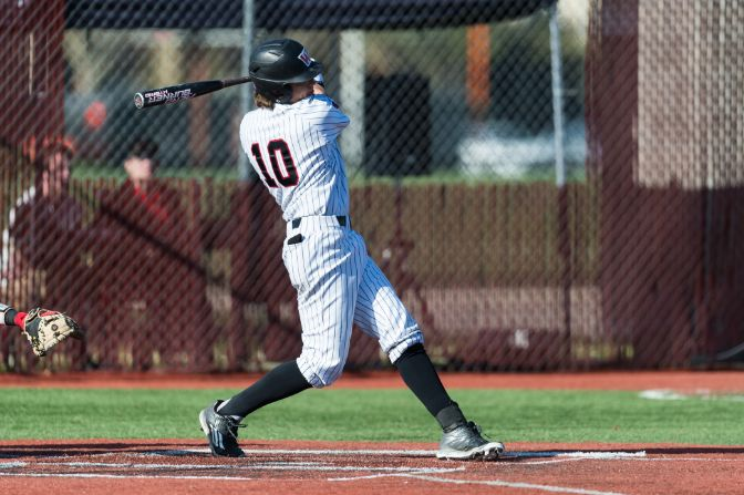 Western Oregon senior Jared McDonald hit .500 and tallied seven RBIs in the first series of conference play last week.