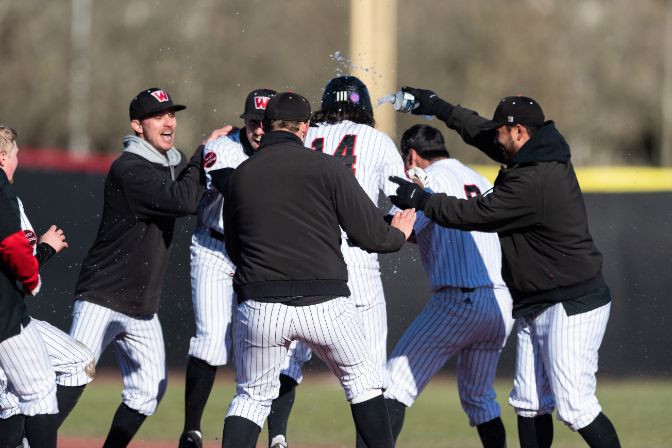 Plenty of clutch offense led to plenty of celebrations for Western Oregon in its weekend sweep.