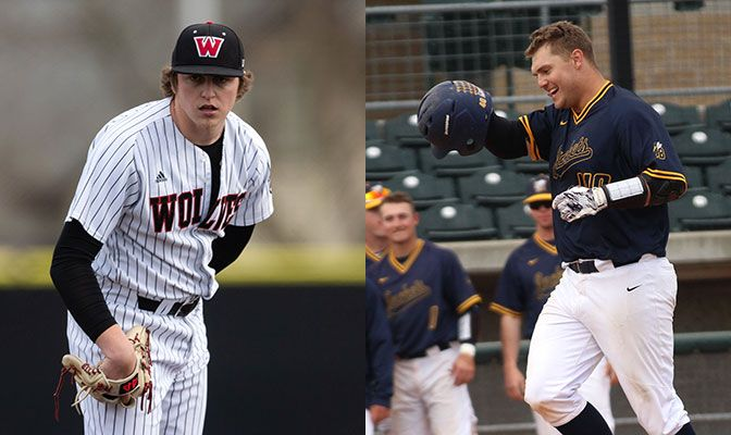 Austin Crowson (left) pitched the fifth no-hitter in GNAC baseball history on Thursday. Daniel Cipriano led Montana State Billings by going 9 for 13 in a four-game sweep of Central Washington.
