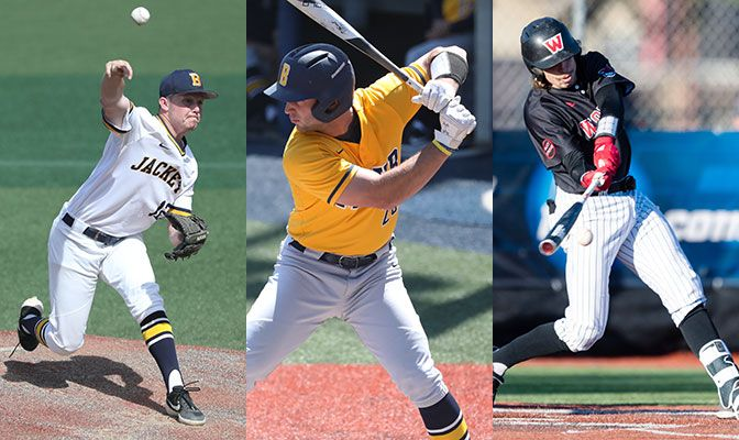 It's been a stellar season at the plate, on the mound and in the classroom for three of the GNAC's top student-athletes.