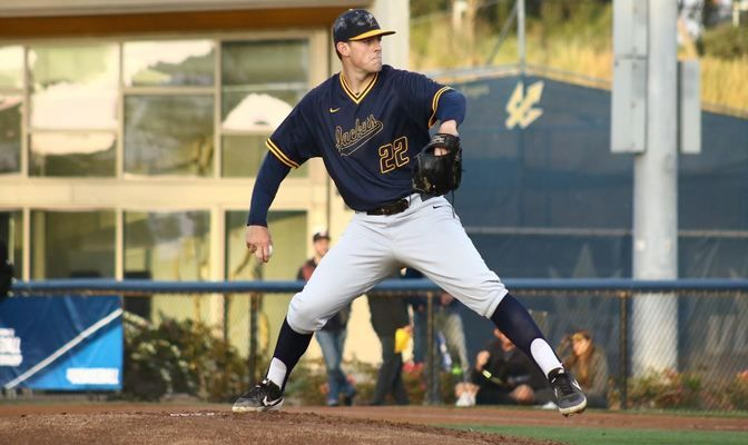 Montana State Billings starter Jarrod Molnaa went five innins on the mound in Thursday's NCAA Baseball West Regional lid-lifter.