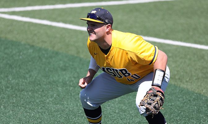 Daniel Cipriano led the GNAC in a number of offensive statistical categories, including batting average, runs and RBI. Photo by Ellie Parker.