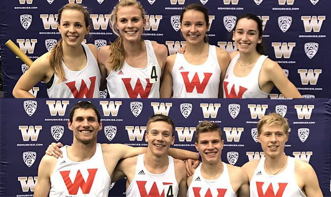 Western Oregon reset the school records in both the men's and women's distance medley relay.
