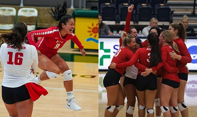 Simon Fraser (left) and Saint Martin's (right) were named Co-Teams of the Week after each going 4-0 at their respective tournaments.