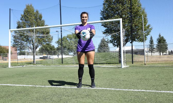 Clare Keenan has one shutout and has only conceded two goals in 280 minutes played in net this season.