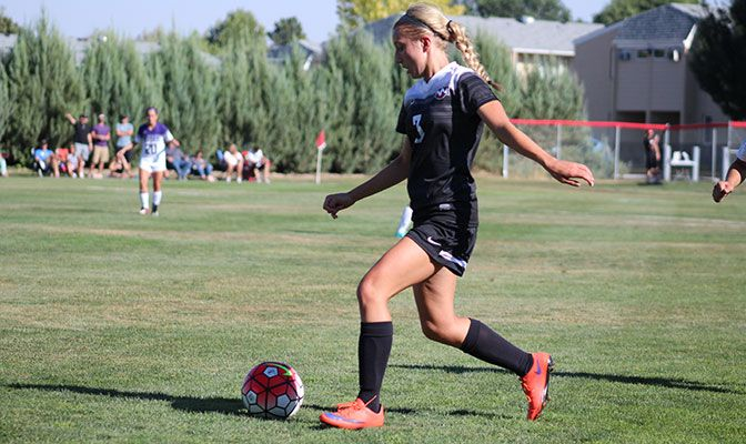 Northwest Nazarene's Tennyson Young has featured in all six NNU fixtures this season, helping the Crusaders to a 4-2 record.